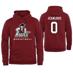 Men's New Mexico State Aggies Berrick JeanLouis Personalized Maroon Hoodie