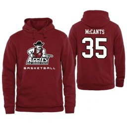 Men's New Mexico State Aggies Johnny McCants Personalized Maroon Hoodie