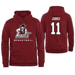 Men's New Mexico State Aggies Keyon Jones Personalized Maroon Hoodie