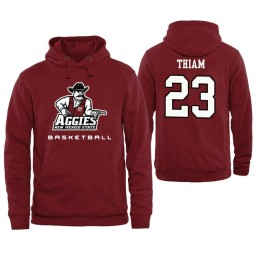 Men's New Mexico State Aggies Mohamed Thiam Personalized Maroon Hoodie