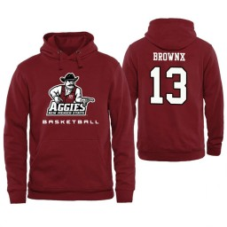 Men's New Mexico State Aggies Robert Brownx Personalized Maroon Hoodie