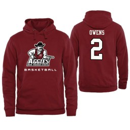Men's New Mexico State Aggies Tennessee Owens Personalized Maroon Hoodie