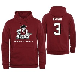 Men's New Mexico State Aggies Terrell Brown Personalized Maroon Hoodie