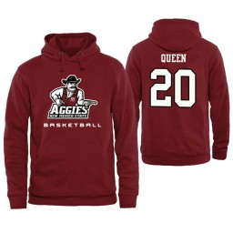 Men's New Mexico State Aggies Trevelin Queen Personalized Maroon Hoodie