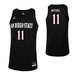 San Diego State Aztecs #11 Matt Mitchell Authentic College Basketball Jersey Black