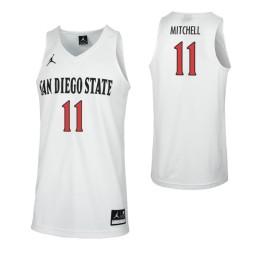 San Diego State Aztecs #11 Matt Mitchell Authentic College Basketball Jersey White