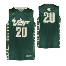 South Florida Bulls #20 Mayan Kiir Authentic College Basketball Jersey Green