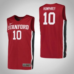Women's Stanford Cardinal #10 Michael Humphrey Authentic College Basketball Jersey Red