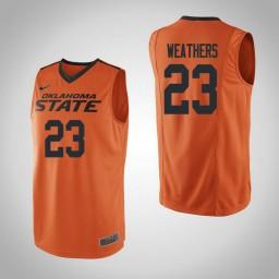 Women's Oklahoma St Cowboys #23 Michael Weathers Authentic College Basketball Jersey Orange