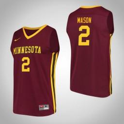 Minnesota Golden Gophers #2 Nate Mason Performance Authentic College Basketball Jersey Maroon