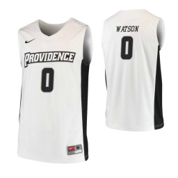 Women's Providence Friars #0 Nate Watson Authentic College Basketball Jersey White