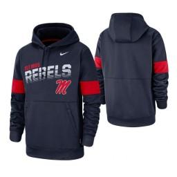 Ole Miss Rebels Men's Navy Nike Hoodie