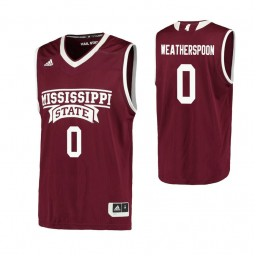Youth Mississippi State Bulldogs #0 Nick Weatherspoon Authentic College Basketball Jersey Maroon