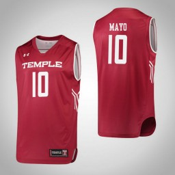 Temple Owls #10 Nicolette Mayo Authentic College Basketball Jersey Red