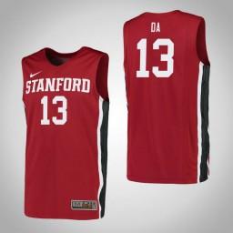 Women's Stanford Cardinal #13 Oscar da Silva Authentic College Basketball Jersey Red