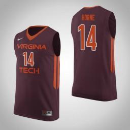Women's Virginia Tech Hokies #14 P.J. Horne Authentic College Basketball Jersey Maroon
