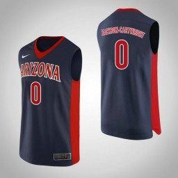 Youth Arizona Wildcats #0 Parker Jackson-Cartwright Authentic College Basketball Jersey Navy