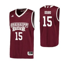 Youth Mississippi State Bulldogs #15 Prince Oduro Authentic College Basketball Jersey Maroon