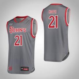 Women's St. John'S Red Storm #21 Qadashah Hoppie Authentic College Basketball Jersey Gray
