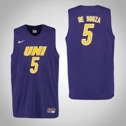 Youth Northern Iowa Panthers #5 Rafael de Souza Authentic College Basketball Jersey Purple