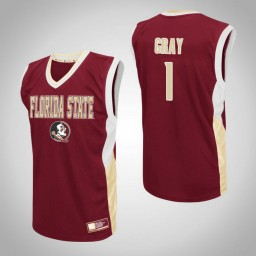 Florida State Seminoles #1 Raiquan Gray Fadeaway Authentic College Basketball Jersey Red