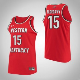 Western Kentucky #15 Raneem Elgedawy Performance Authentic College Basketball Jersey Red