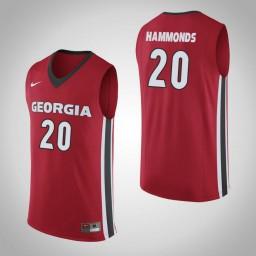 Women's Georgia Bulldogs #20 Rayshaun Hammonds Authentic College Basketball Jersey Red