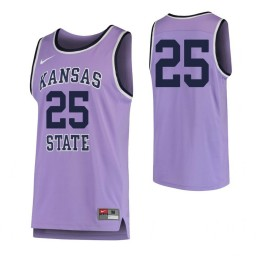 Kansas State Wildcats #25 Authentic College Basketball Jersey Purple