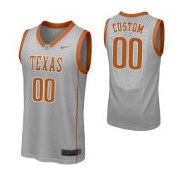 Texas Longhorns Custom College Basketball Replica Jersey Gray