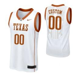 Texas Longhorns Custom College Basketball Replica Jersey White