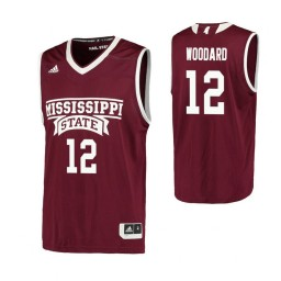 Youth Mississippi State Bulldogs #12 Robert Woodard Authentic College Basketball Jersey Maroon