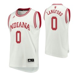 Indiana Hoosiers #0 Romeo Langford Home Authentic College Basketball Jersey White