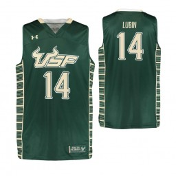 South Florida Bulls #14 Ron Lubin Authentic College Basketball Jersey Green