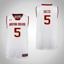 Boston College Eagles #5 Sam Holtze Authentic College Basketball Jersey Cardinal