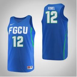 Women's Florida Gulf Coast Eagles #12 Samantha Kisiel Authentic College Basketball Jersey Blue