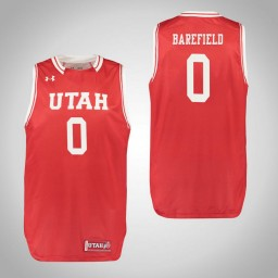 Youth Utah Utes #0 Sedrick Barefield Authentic College Basketball Jersey Red