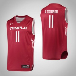 Temple Owls #11 Shannen Atkinson Authentic College Basketball Jersey Red