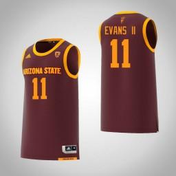 Women's Arizona State Sun Devils #11 Shannon Evans II Authentic College Basketball Jersey Maroon