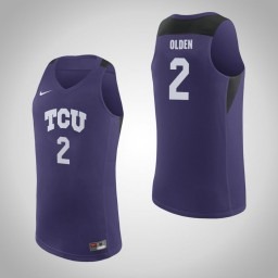 Youth TCU Horned Frogs #2 Shawn Olden Authentic College Basketball Jersey Purple