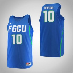 Women's Florida Gulf Coast Eagles #10 Sheahen Dowling Authentic College Basketball Jersey Blue