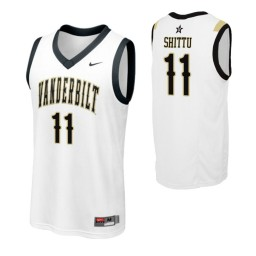 Youth Vanderbilt Commodores #11 Simisola Shittu White Authentic College Basketball Jersey