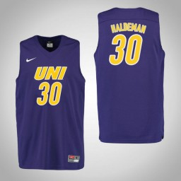 Youth Northern Iowa Panthers #30 Spencer Haldeman Authentic College Basketball Jersey Purple