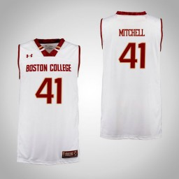 Boston College Eagles #41 Steffon Mitchell Authentic College Basketball Jersey Cardinal