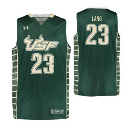 South Florida Bulls #23 T.J. Lang Authentic College Basketball Jersey Green