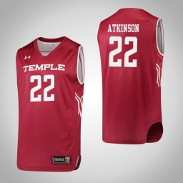 Temple Owls #22 Tanaya Atkinson Authentic College Basketball Jersey Red