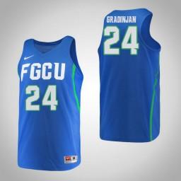 Women's Florida Gulf Coast Eagles #24 Taylor Gradinjan Authentic College Basketball Jersey Blue