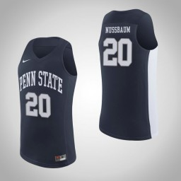 Penn State Nittany Lions #20 Taylor Nussbaum Authentic College Basketball Jersey Navy