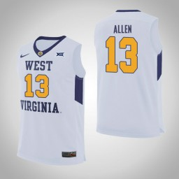 Women's West Virginia Mountaineers #13 Teddy Allen Authentic College Basketball Jersey White