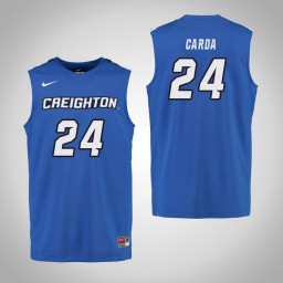 Youth Creighton Bluejays #24 Temi Carda Authentic College Basketball Jersey Royal