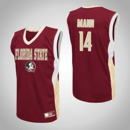 Florida State Seminoles #14 Terance Mann Fadeaway Authentic College Basketball Jersey Red